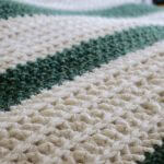 Super Soft Chunky Striped Crochet Throw Blanket