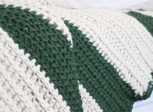 chunky striped crochet throw pattern