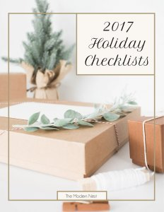 2017 holiday checklists