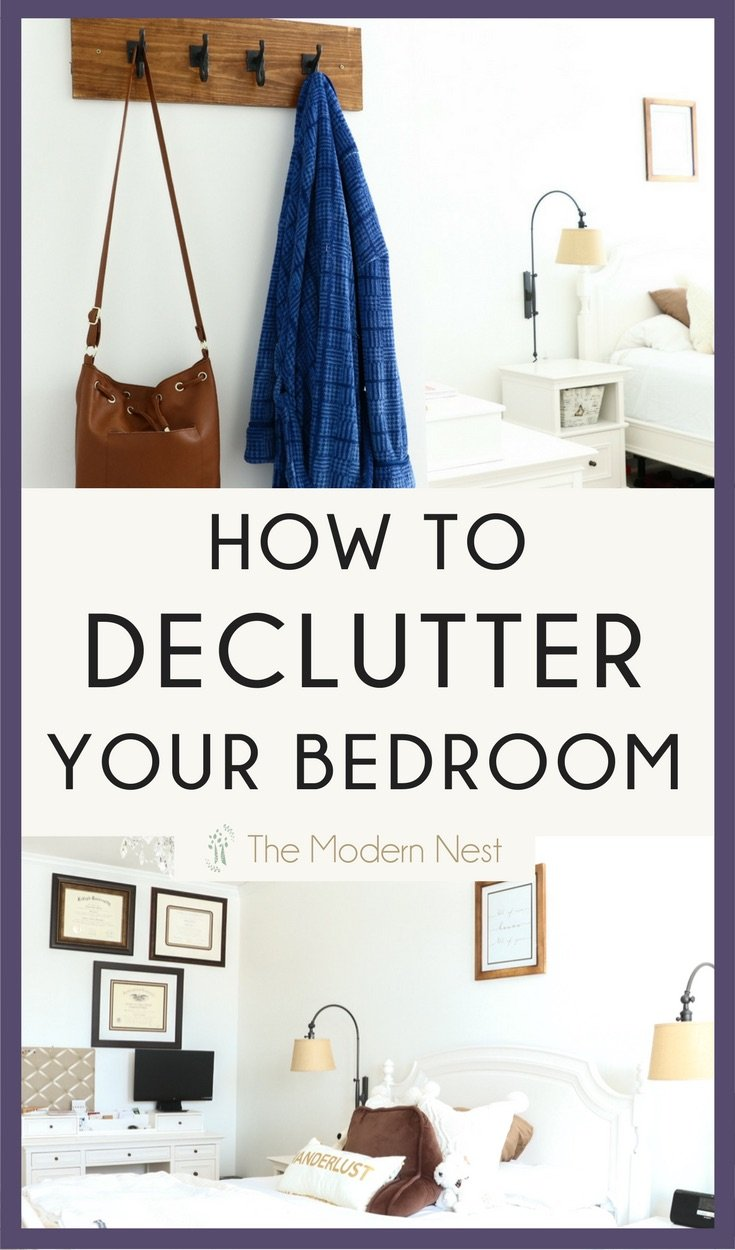 How To Declutter Your Bedroom For A More Peaceful Space The Modern Nest